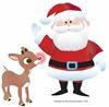 Rudolph and Santa Claus