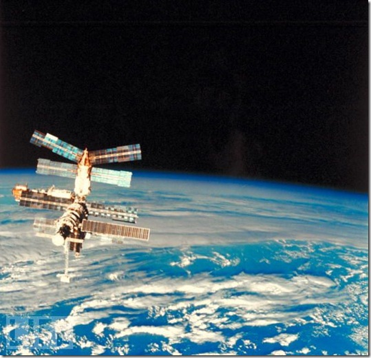 LIFE: The Russian MIR Space Station, picture taken by the docking Space Shuttle Atlantis!