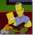 George Bush Sr. reading to Bart Simpson