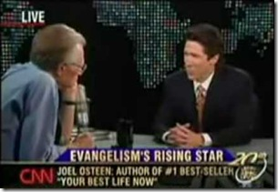 Joel Osteen on Larry King