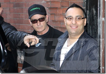 Charlie Sheen in Toronto with Russell Peters