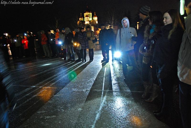 Флешмоб За Самарское время на площади Славы 21 ноября