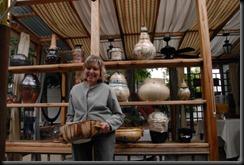 Millie Beatie with her pots