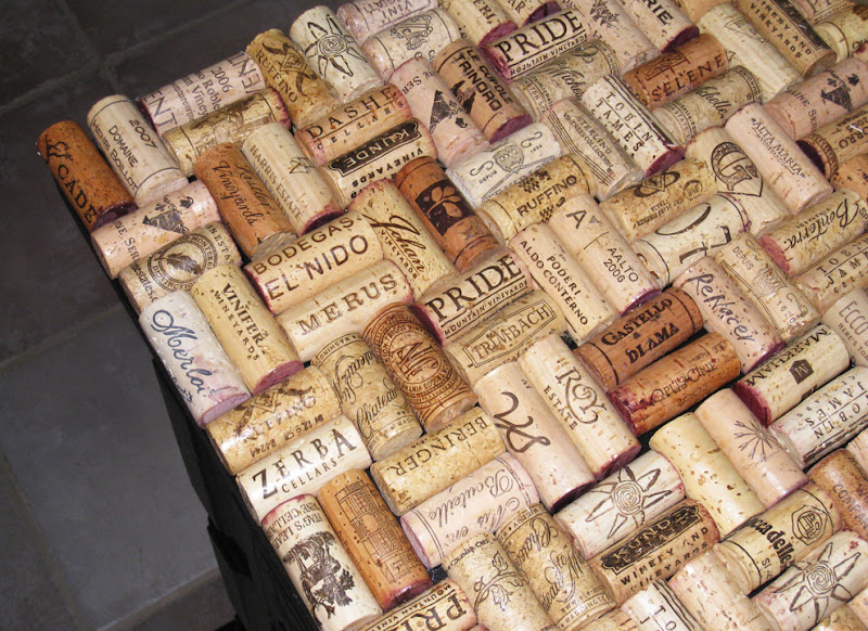 Decorating obsessed my wine cork dresser for Decorating with wine corks