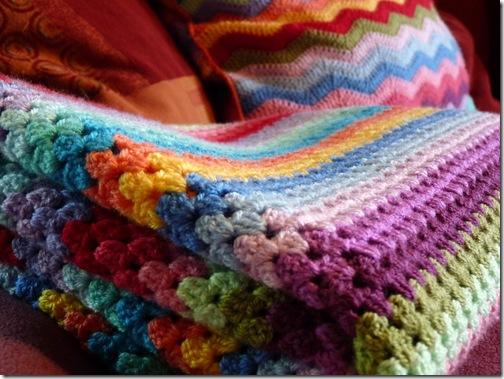 Granny Stripe Blanket (7)