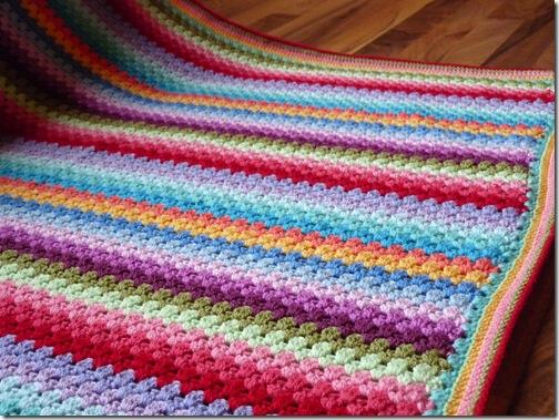 Granny Stripe Blanket (5)