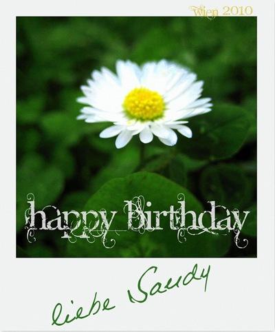 Happy Birthday, Sandy