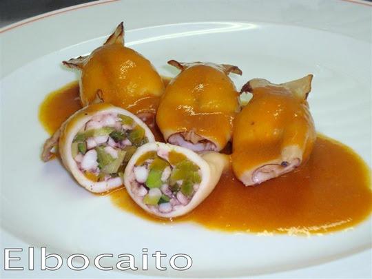 Elbocaito blog chipirones rellenos de salteado de - Chipirones rellenos en salsa de tomate ...