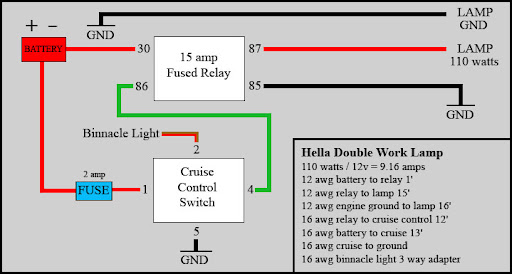Hella 4000 Wiring Diagram on ta a fog light switch wiring diagram