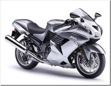 silver 07 zx14 sportbike