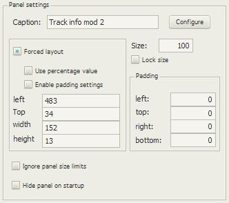 Track info mod 2の配置