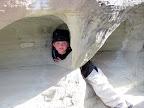 Bradley playing in the rocks