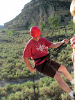 Me rappelling in Spring Canyon