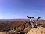 Mountain bike on Wood Hill