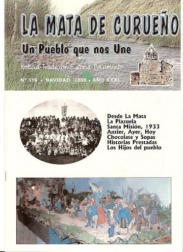 Boletin 116 - Portada - Navidad 2009 por La Mata de Curueño (León)