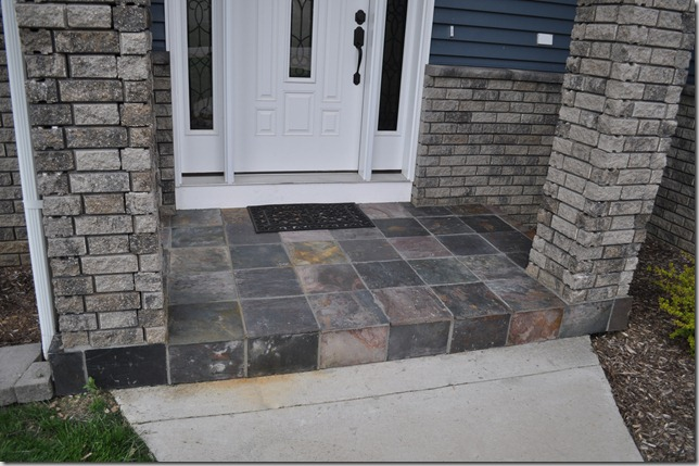 Slate Tile Porch Decor And The Dog