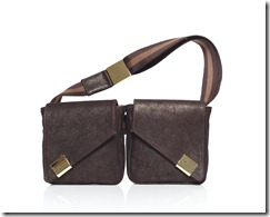 Brickel Two Pockets Metallic Brown