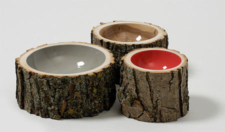 Eco-Friendly Log Bowls by Doha Chebib