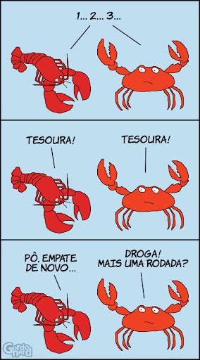 lagosta vs caranguejo Joquempô crustáceo
