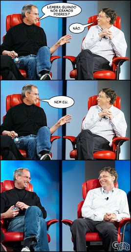 stevejobs billgates 1 Steve Jobs vs. Bill Gates