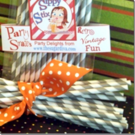 Halloween Straws Gray Small