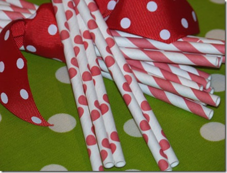 Sample Red Stripe and Dots