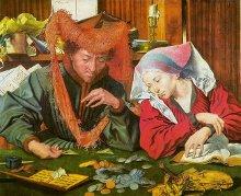 El cambista y su mujer (Marinus van Reymerswale 1539)