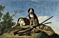 Perros y útiles de caza (Goya 1775)