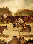 Toros en un pueblo (Goya 1812-1819)