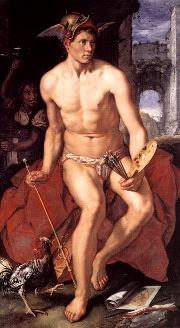 Mercurio, mensajero de los Dioses (Hendrick Goltzius, 1611)