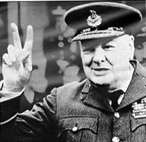 Foto retocada de Winston Churchill