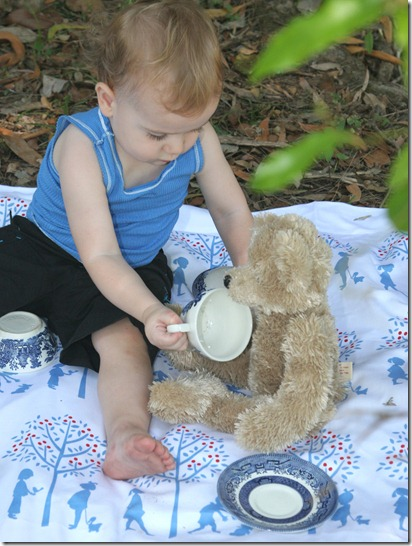 tea party with bear