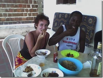 eating African