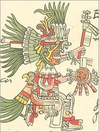 Huitzilopochtli, Aztec God of Sun and War