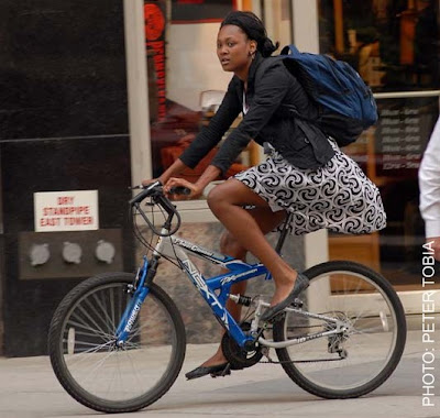 pic of Lady Riding Bike