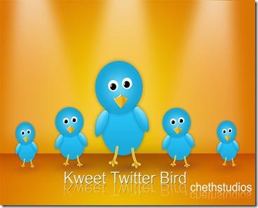 kweet free twitter bird icon