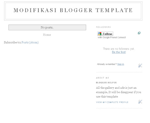 modifikasi blogger template