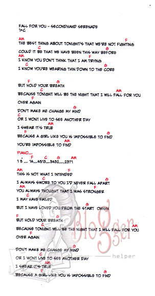 Fall for You - Lyrics and chords