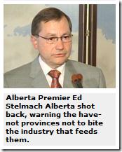 Premier Ed Stelmach Alberta