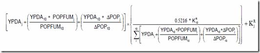 Calcul de la péréquation