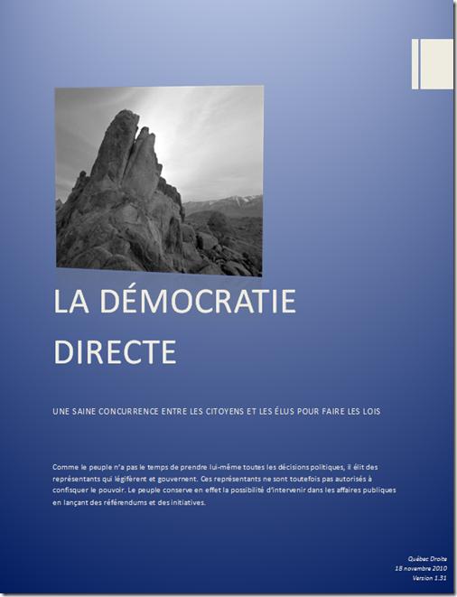 Démocratie directe - 1