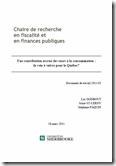 Fiscalité et finance publique