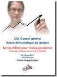ADQ Conseil général - Moins d'État pour mieux gouverner
