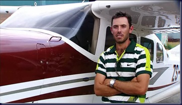 charl schwartzel airplane
