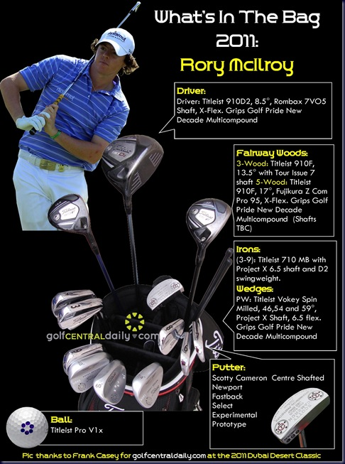 whats in the bag rory mcilroy2011