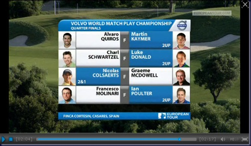 2011 volvo world matchplay championship quarter final highlights