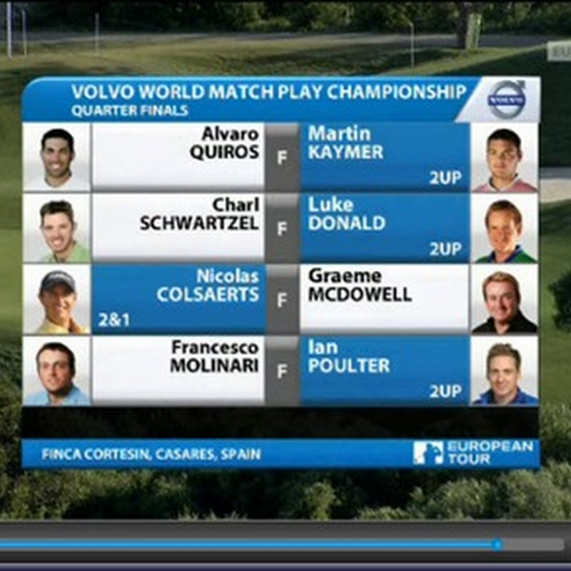 2011 Volvo World Matchplay Quarter Final Highlights and Results