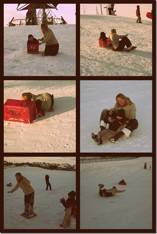 Ryan and mommy sled