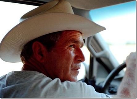 bush_driving_cowboy_hat