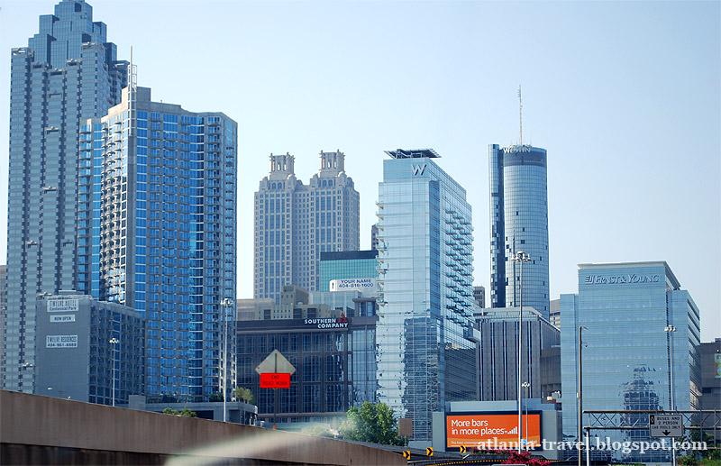 Вид на центр города с автострады I85